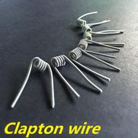 Precio de Bobinas atlantis v2-Clapton alambre bobina de cables prefabricados de bobina de calentamiento 24 g * 30g RDA para aspirar tritón v2 Atlantis subox Mini subvod Bobinas nebox clapton