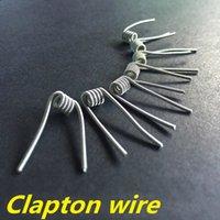Les bobines de atlantis Prix-Clapton fil de la bobine de fils préformés bobine 24g * 30g RDA de chauffage pour aspirer triton v2 mini-subvod Bobines nebox de clapton subox atlantis