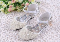 autumn season flowers - Lovely Pink White Flower Girl s Shoes For Wedding Party buckle Strap Full Pearls Little Kids First Communion Graduation Party