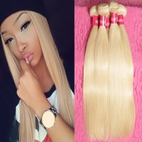 Wholesale 7a Russian blonde virgin hair weaves Brazilian human hair straight blonde remy hair extensions inch