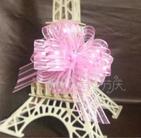 Wholesale 10 Christmas Gift Packing Pull Bow Ribbons Decorative Xmas Wedding Festival Gifts Pull Flower Ribbons Decor More Colors