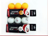 Wholesale 12 mm Stars Table Tennis Ball International Professional Game Ball Color Orange And White