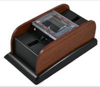 casino shuffler - 20pcs Cards Deck Wooden Deluxe Automatic Electric Poker Card Shuffler Casino Bar Gamble Play C2953