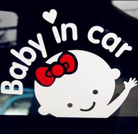 Wholesale 2 PC cm Baby On Board Baby In Car Car Sticker Waterproof Reflective Car Decal On Rear Windshield