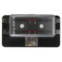 Wholesale Car Boat Circuit Way ATO Blade Fuse Box Holder LED Blown Warning