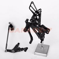 adjustable foot pegs - Foot Pegs Rear Set For Yamaha YZF R1 Black Hot Sale Motorcycle CNC Aluminum alloy Fully Adjustable Positioning Of Foot Pegs