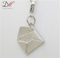 Wholesale Fashion Engraved Letter I love you Word Charm Silver Envelope Shape Charms For Women Daihe Brand Hot Selling Jewelry