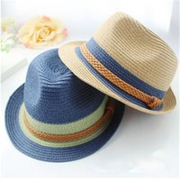 Wholesale Ladies Straw Hat Sun Protection Best Summer Hats High Quality Paper Stingy Brim Hats Two Colors Good Looking ywlh15