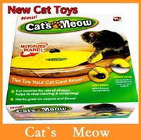 Wholesale High quality Cat s Meow Cat s Meow Cat Toy Undercover Mouse Electronic Cat Toys Cat Play Toy Cat Training Tool Via DHL