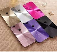 Wholesale FOR IPHONE S Aluminum Metal CD Pattern Back case for Apple iPhone S Plus S PC side aluminium back hard case with Logo MOQ