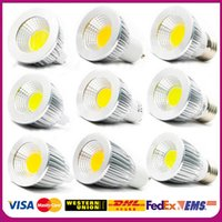 Wholesale Dimmable Led COB Lamp W W W E27 GU10 E14 GU5 V MR16 V Led Light Spotlight led bulb downlight lighting bulbs