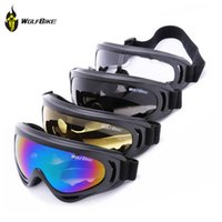 Wholesale WOLFBIKE Professional Ski Goggles Snowboarding Ski Glasses Colored Windproof Anti fog Snow Goggles Anti fog Snowboard