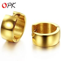Wholesale OPK JEWELRY Women Gold Plated Stainless Steel Hoop Earrings European Style NEW ARRIVAL