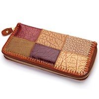 Wholesale Ethnic handmade leather wallet lady purse retro rustic tourism characteristic products carteira feminina