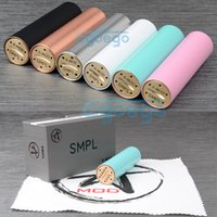 Cheap WOTOFO SMPL mod SMPL tiffany mechanical mod smpl mod 18650 battery tube Copper SS Black white Blue pink Color for FREAKSHOW RDA 510 atomizer