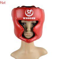 Wholesale Red New Good Headgear Head Guard Trainning Helmet Kick Boxing Gear Exercise Fitness Pretection Gear Sports Price TK0785