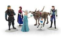 Wholesale Retail Frozen Figure Play Set Frozen Princess Anna Elsa figure set movie princess doll toy