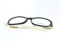 Wholesale glasses frames new brand fashion high quality metal plank while black men women students spectacle frames temperament elegant decorate