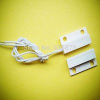 Wholesale 5set White Door Window Contacts Security Magnetic Reed Spring Switch Alarm Normal Open Style Screws