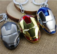 Wholesale new arrive Keychain The Avengers Iron Man pendant key chains cm Zinc Alloy keychains Ring D204