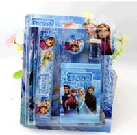 Wholesale new Frozen FROZEN pen notebook School sets Frozen Kids learning items Frozen stationery set for Students children stationery Frozen Ruler