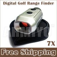al por mayor telémetros-Armiyo 7X digital Golf Range Finder Golfscope Alcance telémetro medida de yardas del metro de distancia Alcance con el bolso Prismáticos envío gratuito