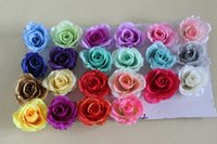 Wholesale 30piece Christmas decoration handmade silk roses flower ball large floral perfume of roses head