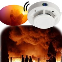 Wholesale 85DB DC V Fire Control Smoke Gas Odor Sensor Induction Alarm Detector Home Safely Security White