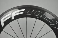 Wholesale 2 Pieces Popular Selling FFDW Carbon Wheels Clincher Wheelset Tubular mm White Decals C UD Weave for Road Bike Bicycle NOVETEC HUB