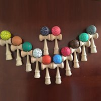 Wholesale Hot Sale Japanese Traditional Wooden Toys Kendama Skills Ball Crack Jade Sword Ball cm kendama