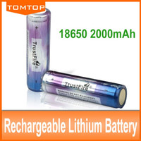 Wholesale 2PCs Trustfire Colorful Battery v mAh Li ion For Camera Torch Flashlight Rechargeable Battery