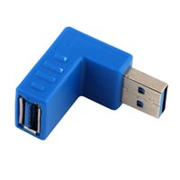 Wholesale Right Angle USB Type A Male to Female Plug Super Speed Connector Adapter