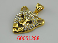 Wholesale k k k gold animal jewelry plated tiger pendants for party gift