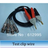 Wholesale 1pc High accuracy four terminal test line LCR test clip digital kelvin bridge test clamps cable