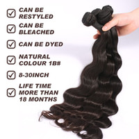 100 brazilian human hair - 2015 New Hair Trends Full Head Natural Black Malaysian Peruvian Brazilian Hair Extension Cheap Top A Human Body Wave Bundles