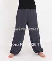 Wholesale colors gray red rose white blue cotton kung fu Tai chi martial arts trousers practice exercise dance yoga pants high quality