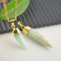 jade necklace - Nature Druzy Australia Jade Agate pendant Gold tone Drusy Agate Gemstone pendant beads in Green for Necklace Gemstone Jewelry findings