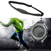 heart rate monitor watch - Newest HOT Men Women Sports Wireless Heart Rate Monitor Sport Fitness Watches With Chest Strap Outdoor Cycling Waterproof H15090