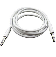 Wholesale White mm to mm AUX Audio Cables Male to Male Stereo Car Extension Audio Cable Headphone Audio Adapter Cable For Iphone Ipod Mp3 Mp4
