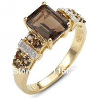 Wholesale R003YBT promotion Hot Fashion Size to10 New Woman s Tanzanite Stone Cz K Yelow Gold Filled Party Ring Gift