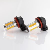 Wholesale H8 High Power Super Bright lm H8 Fog Light DRL Headlights Fog Lamps Auto Car Led V dc Led White yellow