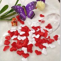 Wholesale 1000pcs Wedding Table Decoration Heart DIY Party Decoration Fabric Heart AE02202 order lt no track