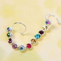Wholesale Fashion For Women Charm Bling Jewelry On Earrings Crystal Leaf Ear Cuff Clip Ear Stud HITM