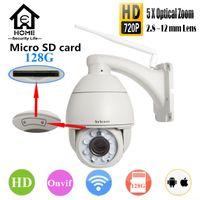 Wholesale Sricam M Wireless IP Camera P SD Card G X Optical Zoom IR Onvif IP Camera PTZ Outdoor Waterproof QR Code Scan PTZ IPC