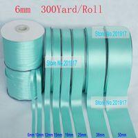 Wholesale Superior Quality quot mmTiffany Blue Single Face Satin Ribbon Bowknot Webbing Decaration yds Roll Matt Polyester Ribbon Mix
