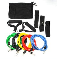 abs developers - Promotion High Quality Set Latex ABS Tube Workout Resistance Bands Exercise Gym Yoga Fitness Sets Outdoor Sports Supplies