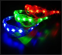 Wholesale 2015 LED superhero spiderman glasses colors LED lights flash spider man cosplay glasses party novelty toys J082105