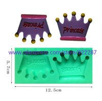 Wholesale Princess crown silicone form to bake party decoration tools forma cupcake decorative bakery tools