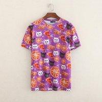 Cheap Wholesale-Raisevern Harajuku new funny 3D tshirts print cat & pizza fashion short sleeve t shirt summer top t-shirt wholesale