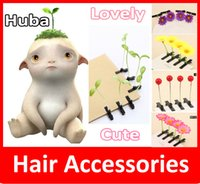 asian fruits - New Lovely Novelty Plants Grass Fruit Hair Clips Headwear Small Bud Antenna Hairpins Lucky Grass Bean Sprout Mushroom Party Hair